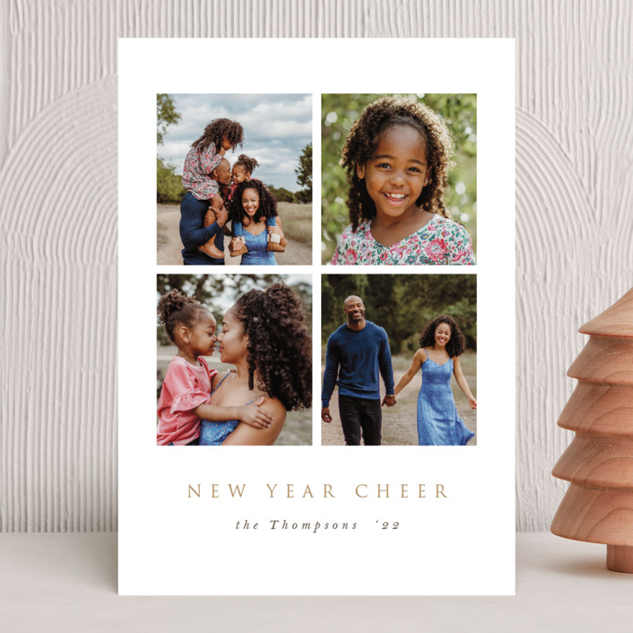 """Modern Window"" - New Year Photo Cards in Starlight by Nicole Walsh."