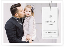 This is a black new year photo card by Jody Wody called Simple Tag with standard printing on smooth signature in standard.