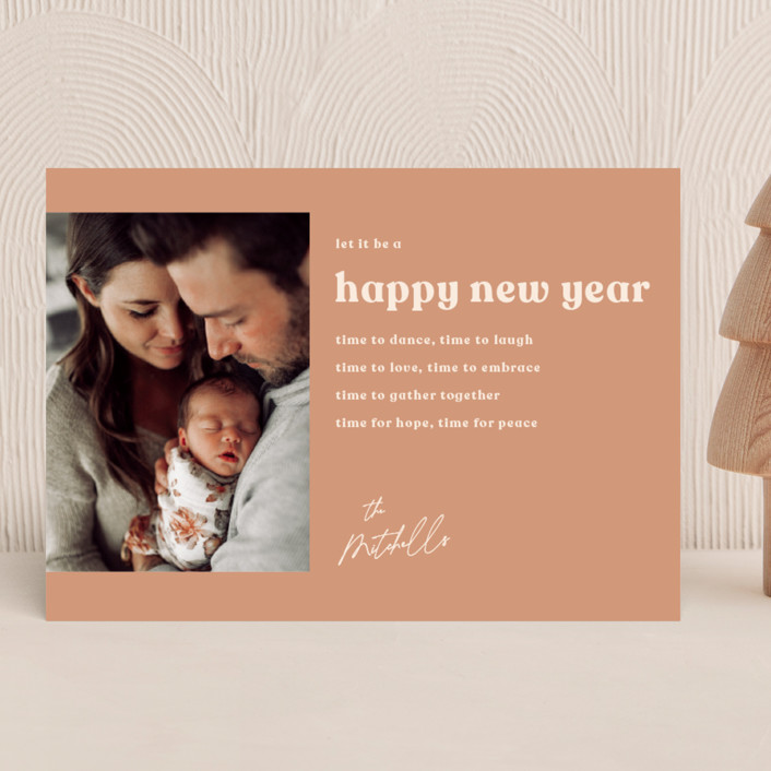 """""""almost ecclesiastes"""" - New Year Photo Cards in Nutmeg by Kamala Nahas."""