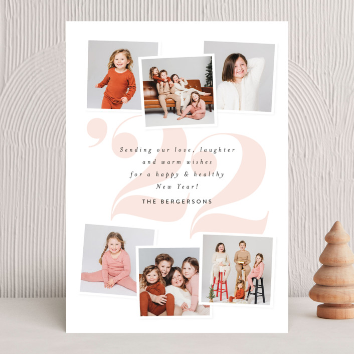 """""""Big 22"""" - New Year Photo Cards in Blush by Itsy Belle Studio."""