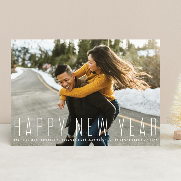 """""""sweet and classic"""" - New Year Photo Cards in Snow by Penguin Creative."""
