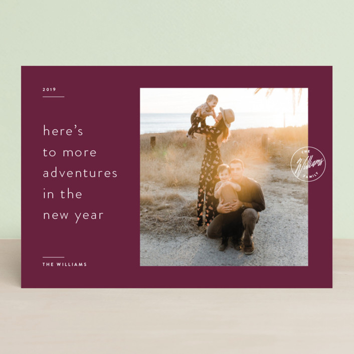 """Artfully Sealed"" - New Year Photo Cards in Velvet by Liz Conley."