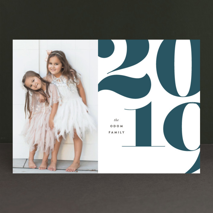 """""""onyx"""" - Modern New Year Photo Cards in Carbon by kelli hall."""