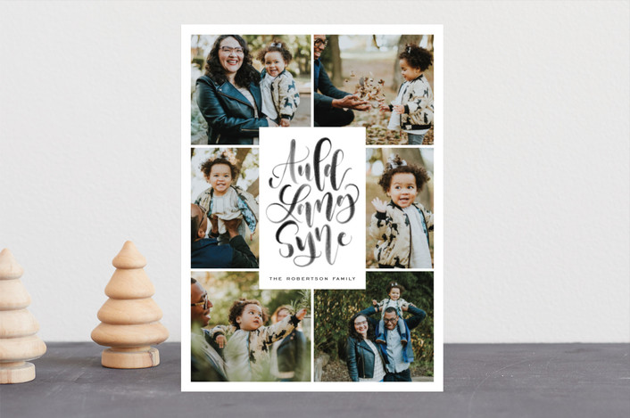 """Auld Lang Syne"" - New Year Photo Cards in Midnight by Leah Bisch."