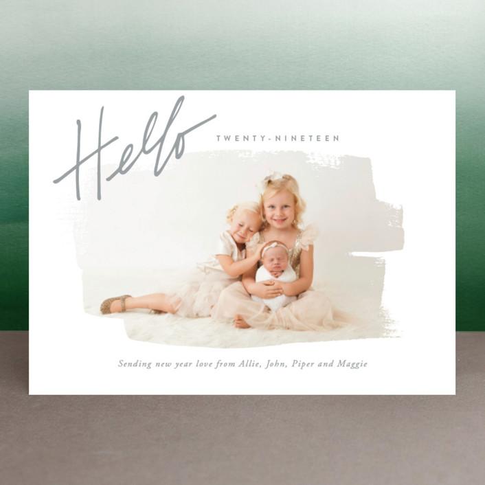 """""""Farewell Last Year"""" - New Year Photo Cards in Grey Sky by Oscar & Emma."""