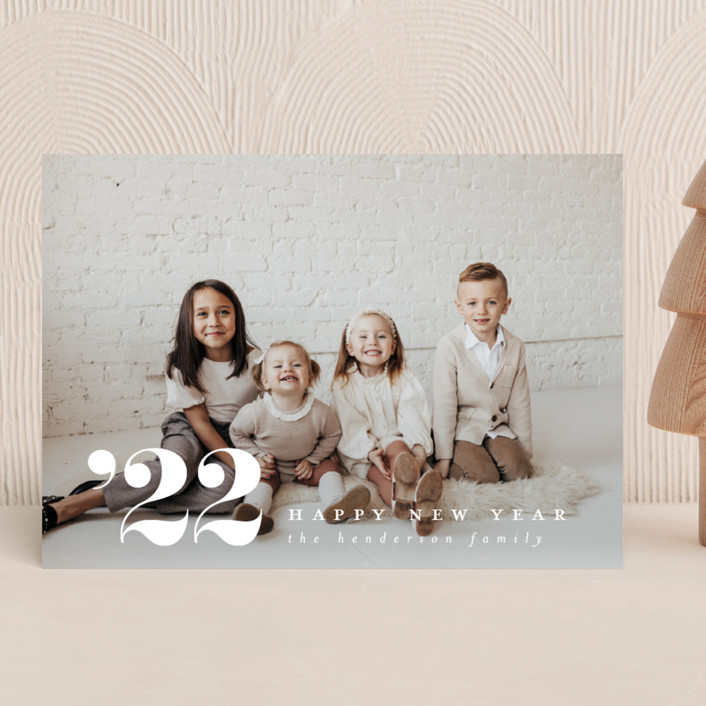 """""""Side Note"""" - New Year Photo Cards in Cloud by Ashlee Townsend."""