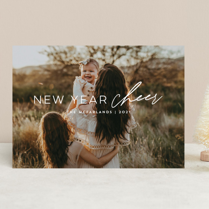 """""""new cheer"""" - New Year Photo Cards in Snow by Anna Elder."""