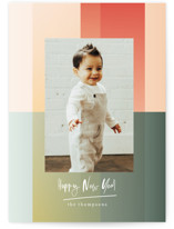 This is a green new year photo card by Baumbirdy called Gradient Background with standard printing on smooth signature in standard.