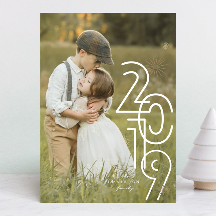 """A Bold New Year"" - Modern New Year Photo Cards in Snow by fatfatin."