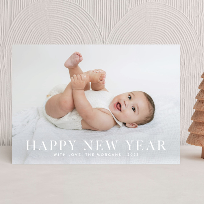 """""""Happiness"""" - New Year Photo Cards in Cashmere by Angela Thompson."""