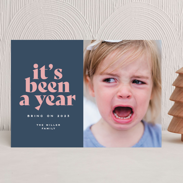 """""""It's been a year"""" - Funny New Year Photo Cards in Wintermint by Owl and Toad."""