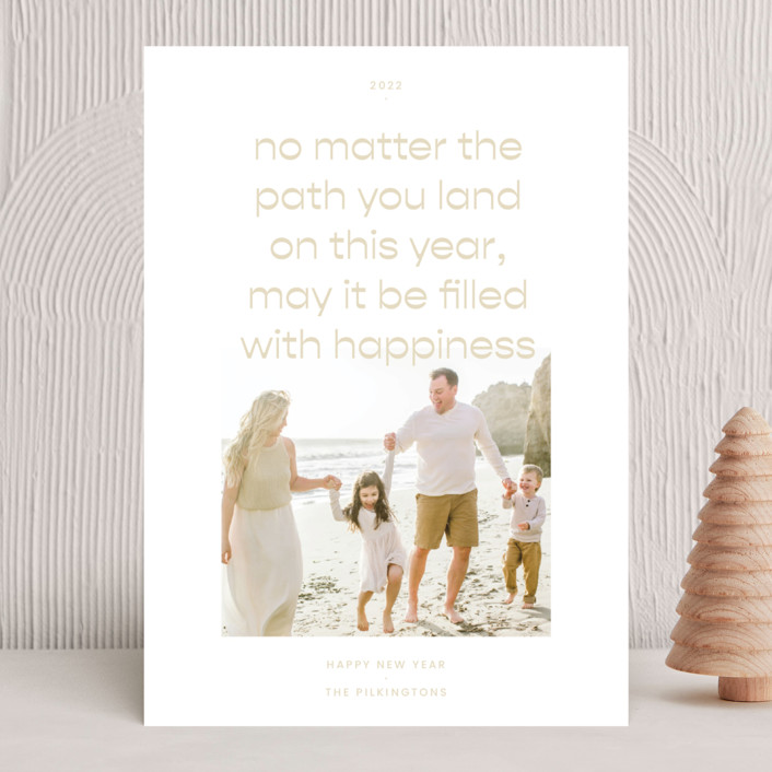 """""""Paths"""" - New Year Photo Cards in Sand by Blustery August."""