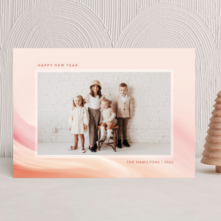 """""""painted light"""" - New Year Photo Cards in Creamsicle by Kamala Nahas."""