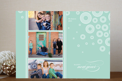 Snow Flurries New Year Photo Cards