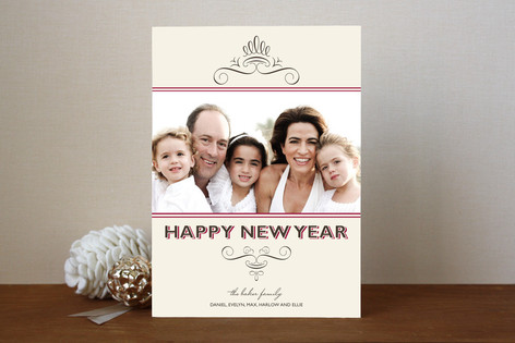 Simple Chic New Year Photo Cards