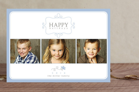 Simple Charm New Year Photo Cards