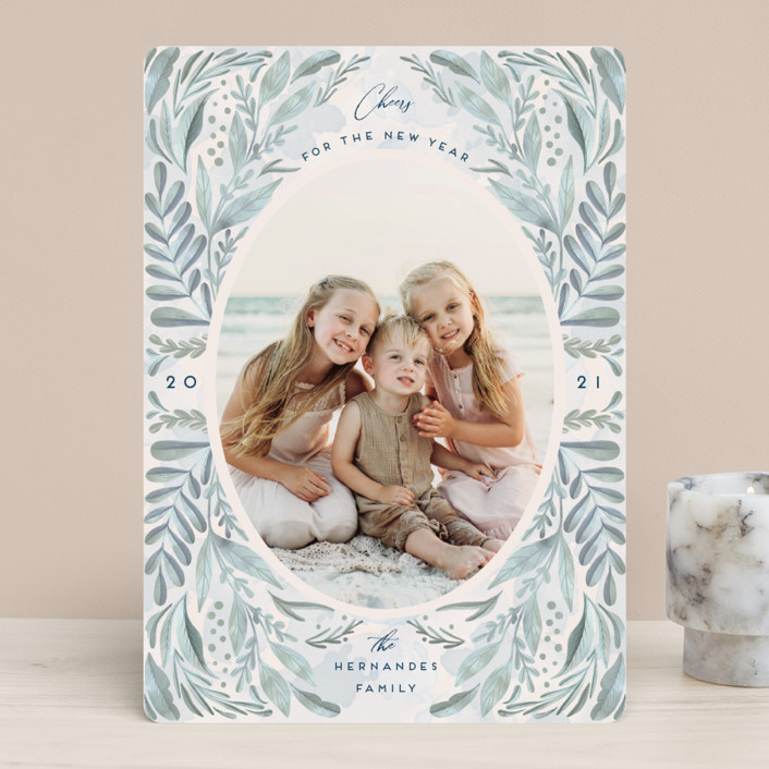 """""""Oceans 21"""" - New Year Photo Cards in Ocean by Chris Griffith."""