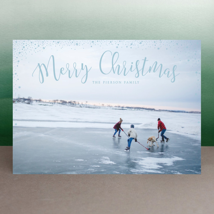 """""""sparkle sparkle"""" - New Year Photo Cards in Cotton by Erin Deegan."""