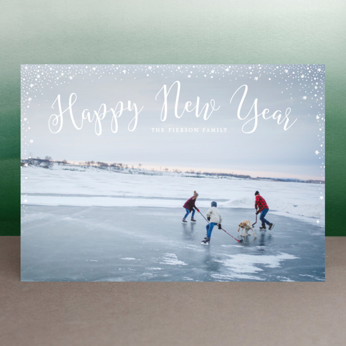"""sparkle sparkle"" - New Year Photo Cards in Cotton by Erin Deegan."