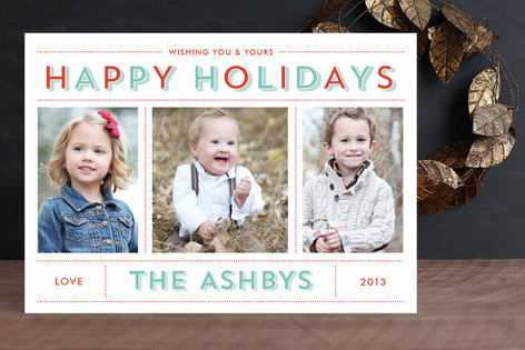 Bold & Bright Holiday New Year Photo Cards