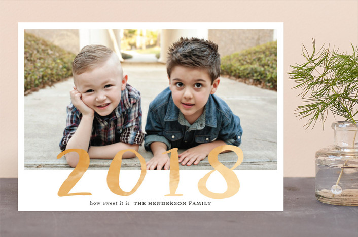 """how sweet it is"" - New Year Photo Cards in Creamsicle by frances."