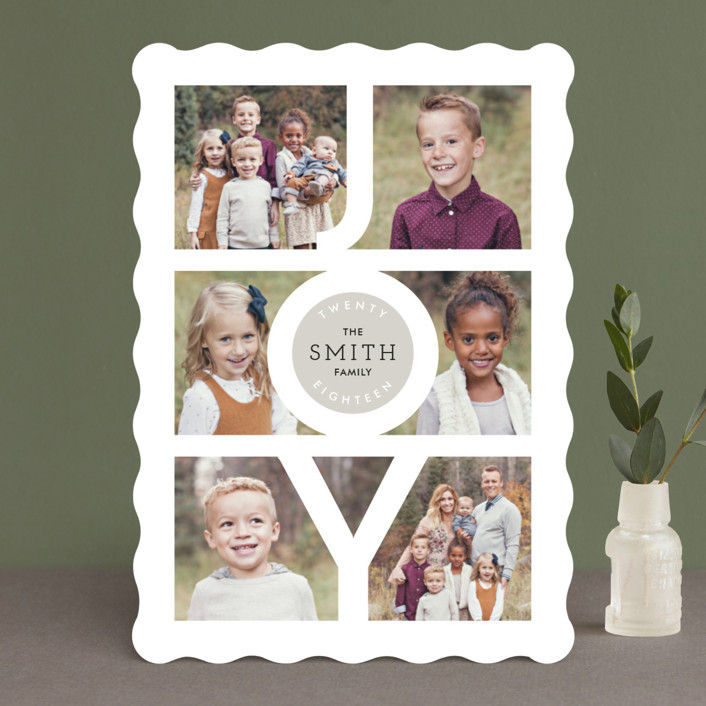 """""""Modern Family Joy"""" - New Year Photo Cards in Ruby by Playground Prints."""