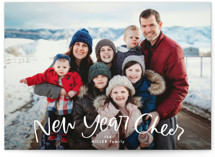 This is a white new year photo card by Erin L. Wilson called Arc with standard printing on smooth signature in standard.