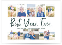 This is a green new year photo card by Wild Lily Designs called Best. Year. Ever. with standard printing on smooth signature in standard.