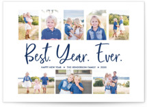 This is a blue new year photo card by Wild Lily Designs called Best. Year. Ever. with standard printing on smooth signature in standard.