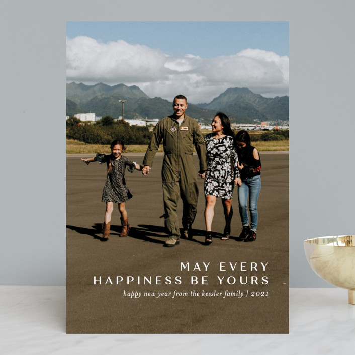 """Every Happiness"" - New Year Photo Cards in Snow by Jessica Williams."
