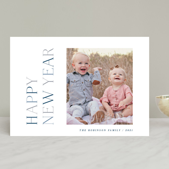 """""""Warmest Type"""" - New Year Photo Cards in Ice by Hooray Creative."""