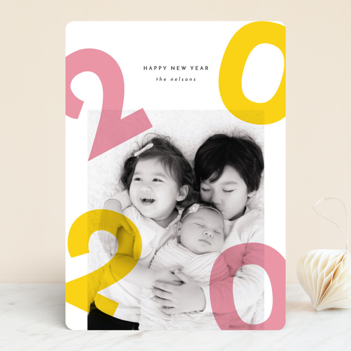 """""""Colorful Fun"""" - New Year Photo Cards in Sunshine by Kann Orasie."""