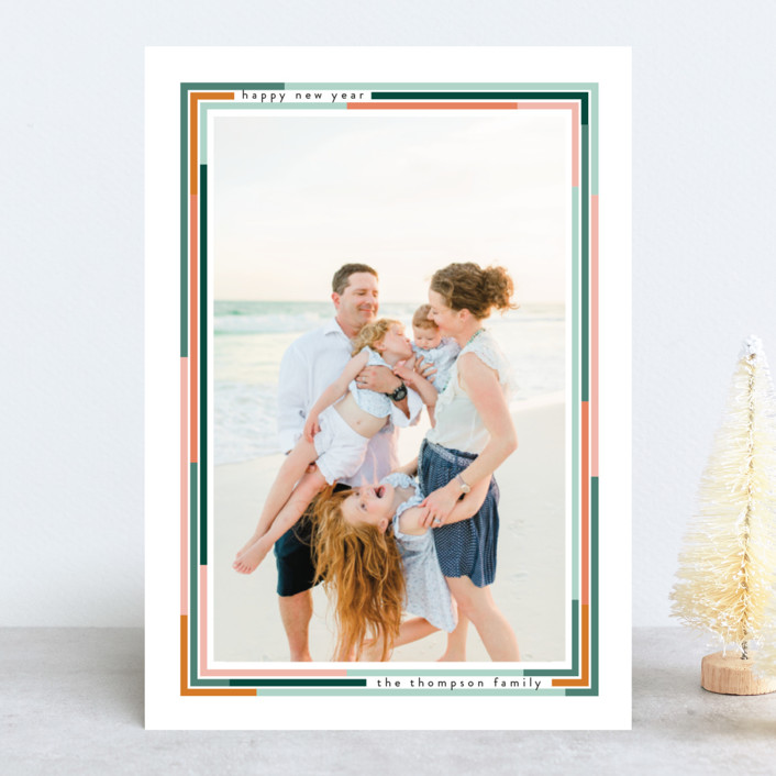 """""""Lined"""" - New Year Photo Cards in Desert by Ashlee Townsend."""
