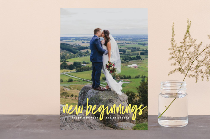 """New Start"" - New Year Photo Cards in Sunshine by Felix Grapes."
