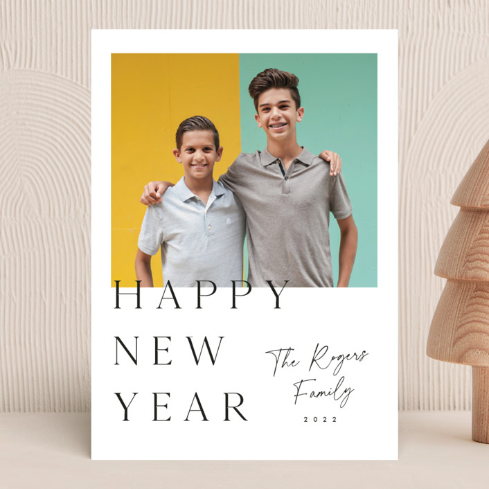 """""""Fresh and clean"""" - New Year Photo Cards in Cotton by Stacey Meacham."""