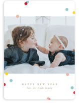 This is a yellow new year photo card by Jennifer Postorino called Sweetly Sprinkled with standard printing on smooth signature in standard.
