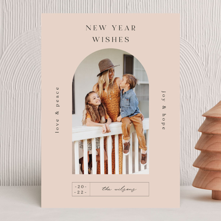 """""""Doorway."""" - Modern New Year Photo Cards in Mauve by Nazia Hyder."""