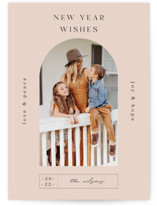 This is a orange new year photo card by Nazia Hyder called Doorway. with standard printing on smooth signature in standard.