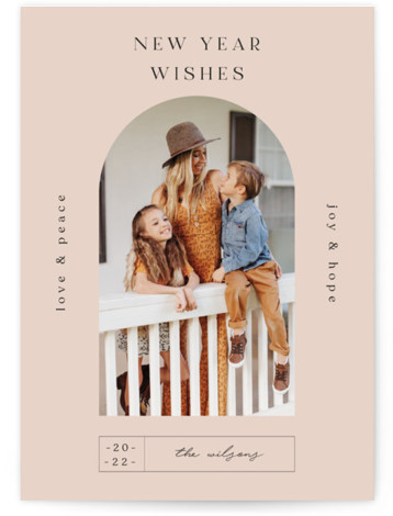 Doorway. New Year's Photo Cards