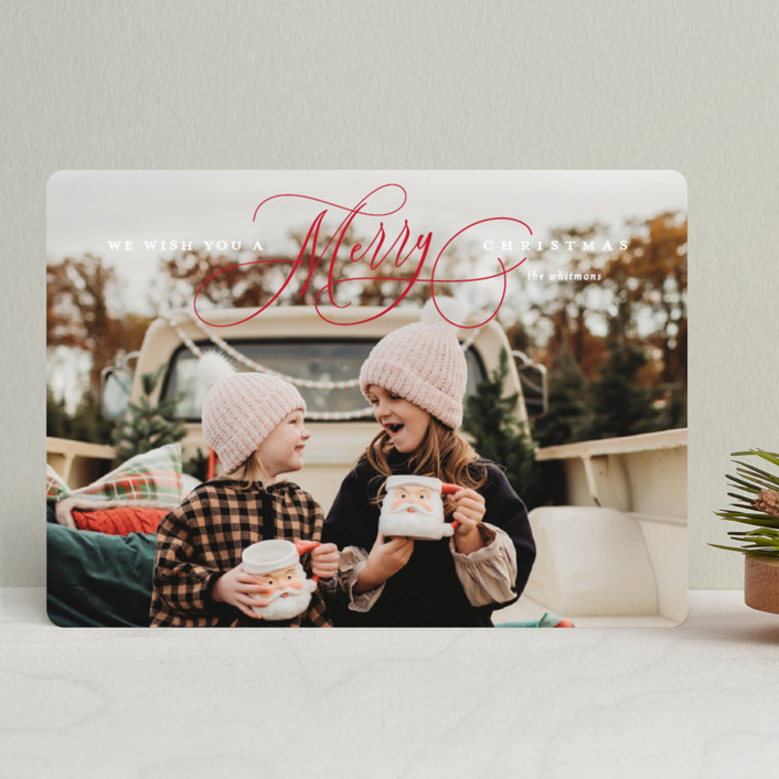 """""""Jubilantly"""" - New Year Photo Cards in Ruby by Lauren Chism."""