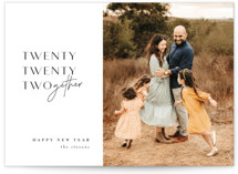 This is a black new year photo card by Lori Wemple called 2021derful with standard printing on smooth signature in standard.