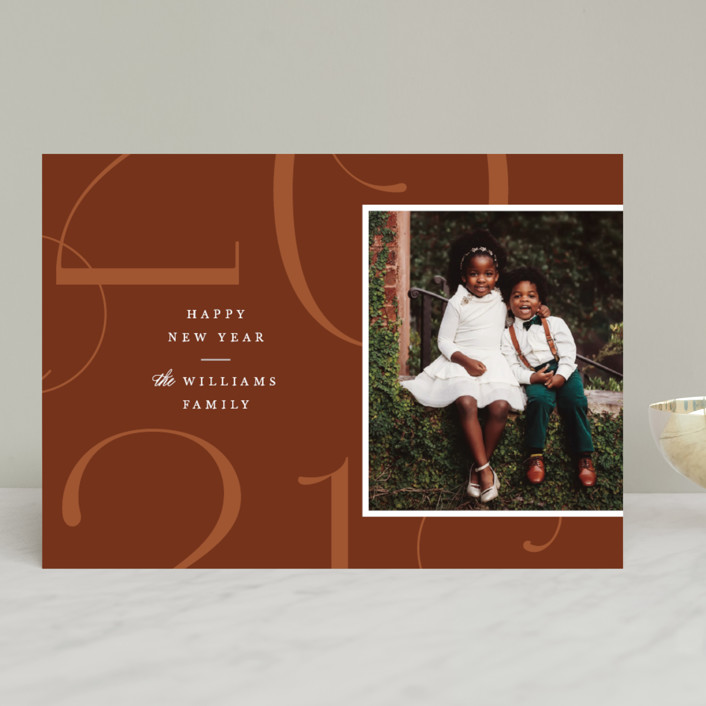 """Park Place"" - New Year Photo Cards in Toffee by Robert and Stella."