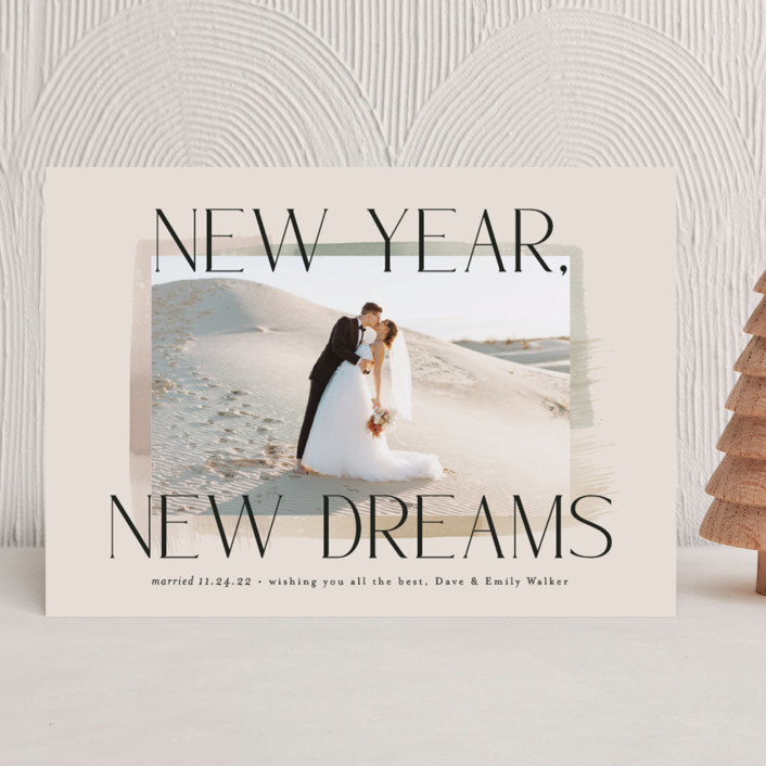 """""""New Year, New Dreams"""" - New Year Photo Cards in Toffee by Alethea and Ruth."""
