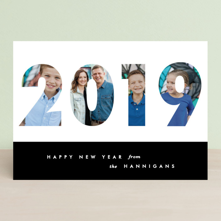 """""""Yearbook"""" - New Year Photo Cards in Espresso by Gwen Bedat."""