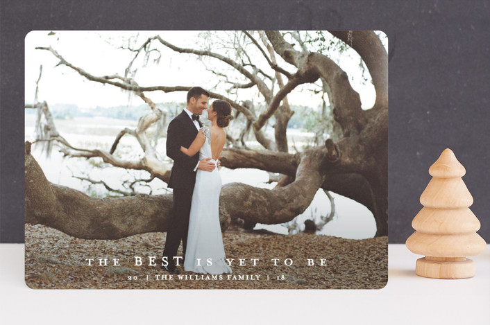"""""""gleaming"""" - New Year Photo Cards in Snow by Jennifer Lew."""