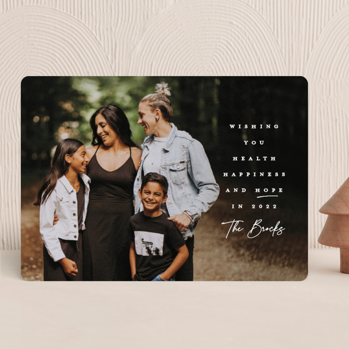 """""""And Hope"""" - New Year Photo Cards in Snow by Lauren Chism."""