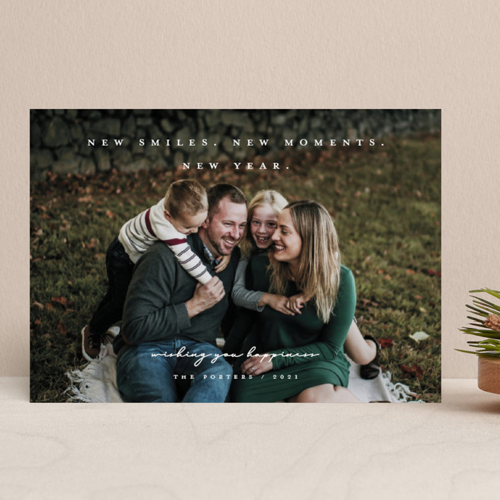 """""""Everything New"""" - New Year Photo Cards in Snow by Michelle Taylor."""