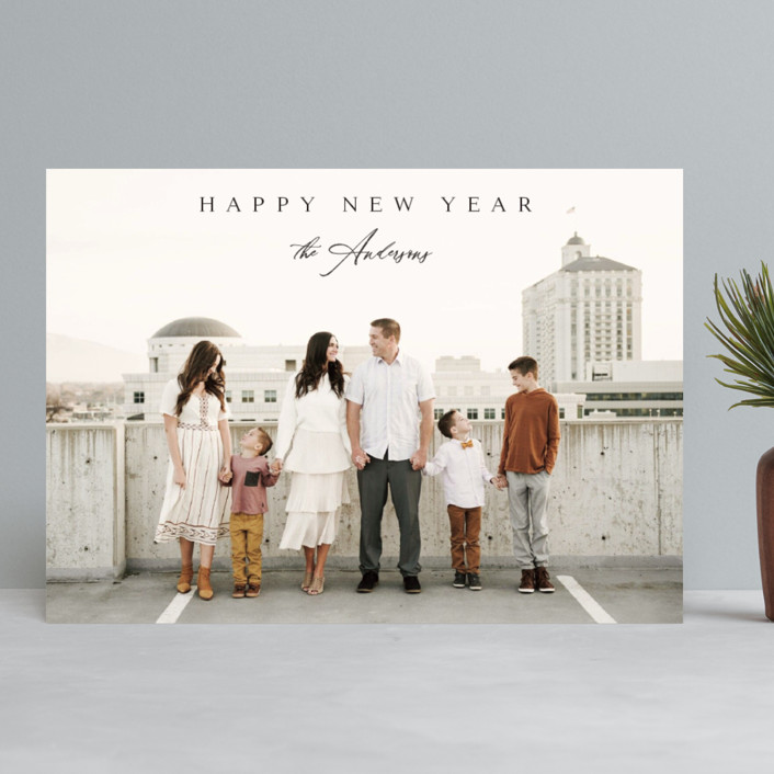 """""""Classical"""" - New Year Photo Cards in Coal by Kasia Labocki."""