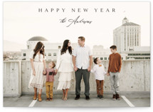 This is a black new year photo card by Kasia Labocki called Classical with standard printing on smooth signature in standard.