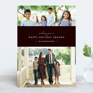 Winter Chic New Year Photo Cards